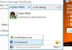 Windows Live Web Messenger 也将支持 Facebook Chat