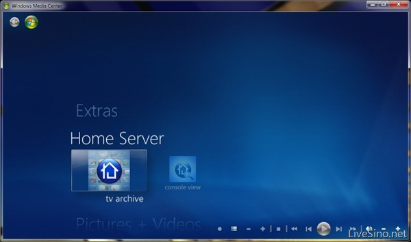 Windows Home Server PP3 Beta 体验 TV Archive 和 Console View