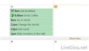 Windows Live Calendar 正式推出,并附更新列表