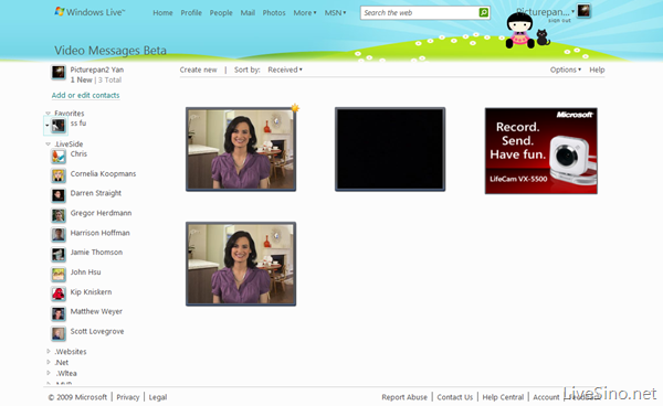 Windows Live Video Messages 已经更新至 Wave3
