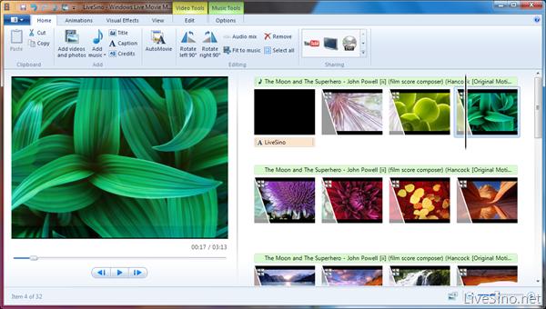 内测版 Windows Live Movie Maker 体验