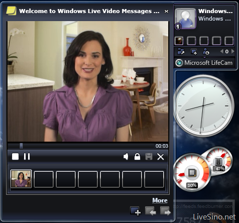 微软 LifeCam Video Messages Gadget 体验