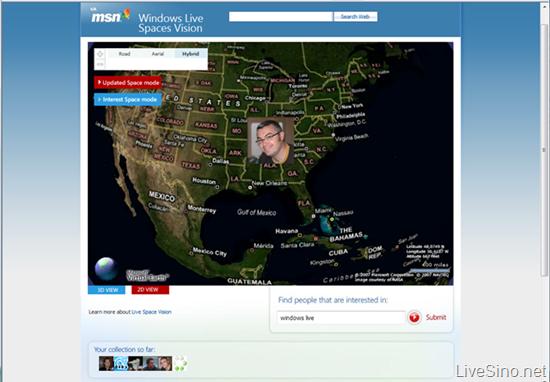 Windows Live Spaces Vision -实时了解博客更新