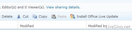 Office Live Workspace 更新,但无 Office Web Apps
