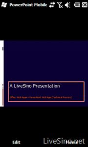 PowerPoint Mobile 2010 Beta 体验