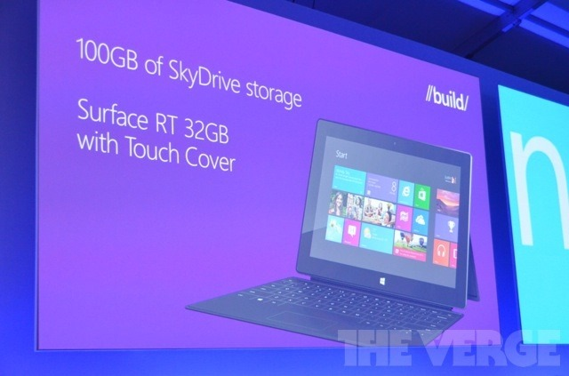 Build 2012 出席者获赠 Surface RT、Lumia 920 和 100GB SkyDrive 云存储
