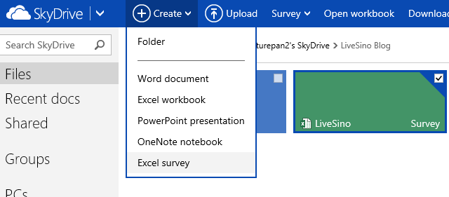 SkyDrive 平台 Excel 调查服务上线