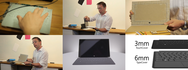 Surface 团队披露 Touch Cover 早期原型