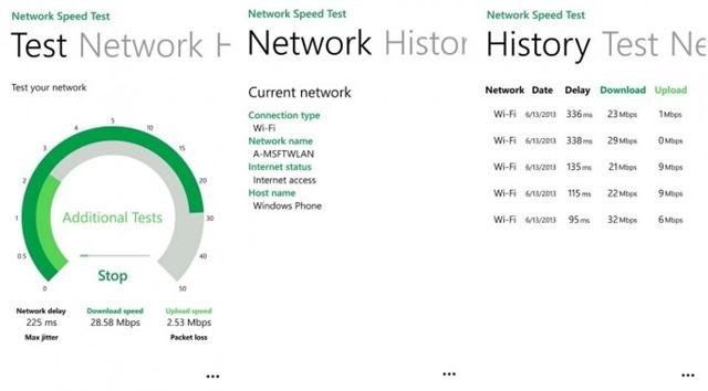 微软发布 WP8 网速测试应用 Network Speed Test