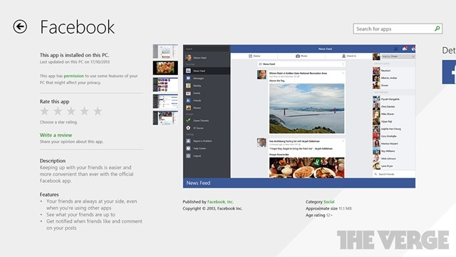 Facebook for Windows 8.1 官方应用发布
