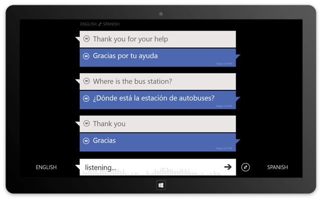 WP8 和 Windows 8 版必应翻译 Bing Translator 更新