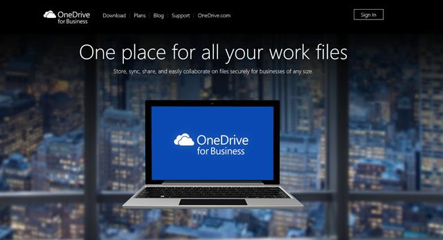 微软宣布 OneDrive for Business 可单独购买服务