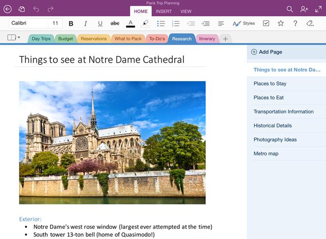 OneNote for iPad 小幅更新,界面风格更扁平