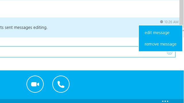 Windows 8.1 版 Skype 支持已发消息编辑,Skype 群组屏幕共享完全免费