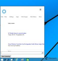 较新版本 Windows 10 Cortana 截图曝光