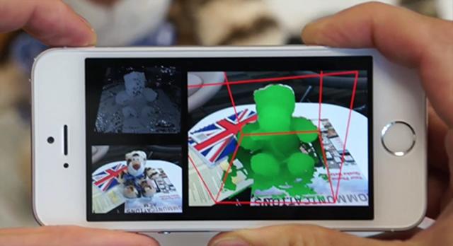 微软研究院 MobileFusion 技术让 iPhone 相机支持 3D 模型扫描