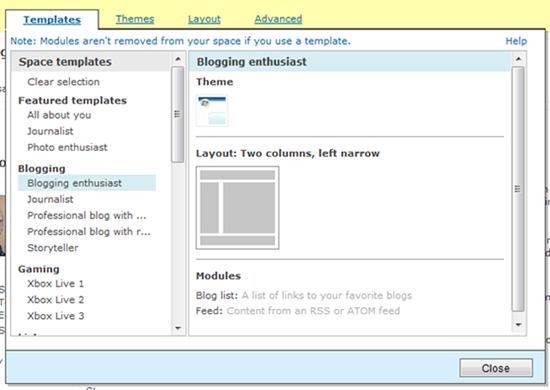 Windows Live Spaces M2 正在部署更新,附截图